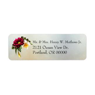 Spring Blooms Wedding Return Address Labels