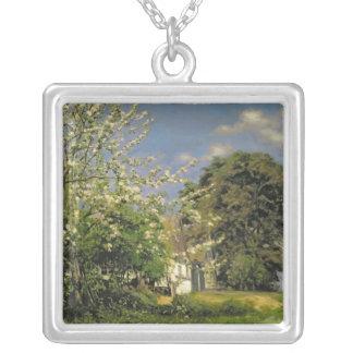 Spring Blossom, 1908 Square Pendant Necklace
