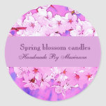 Spring blossom candles/ soap label