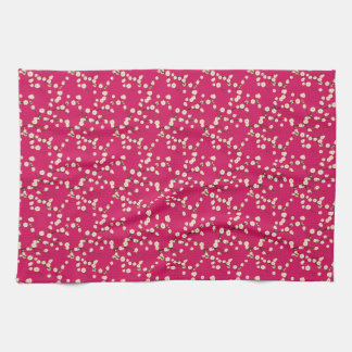 Spring Blossom on Red Towel