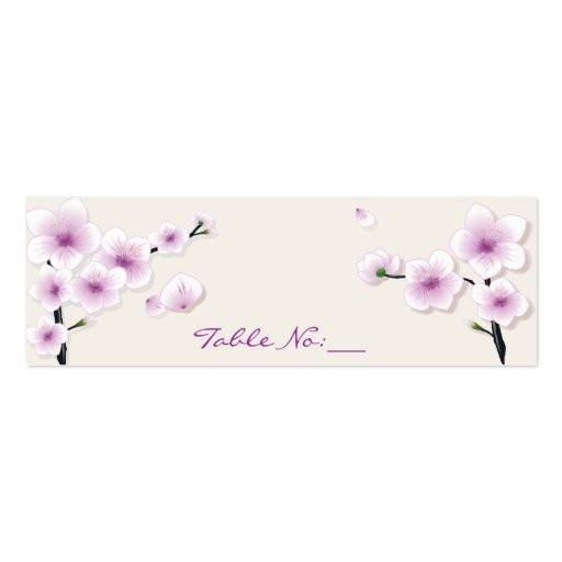 Table Place Cards Of Spring Blossom Table Place Card Double Sided Mini Business