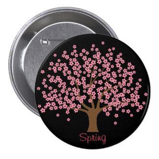 Spring Blossom Tree Button