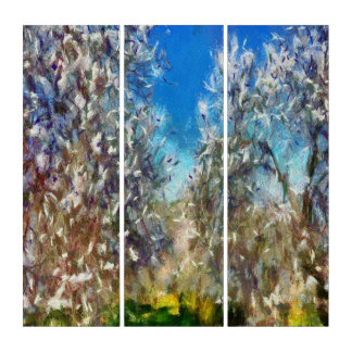 Spring Blossom Triptych