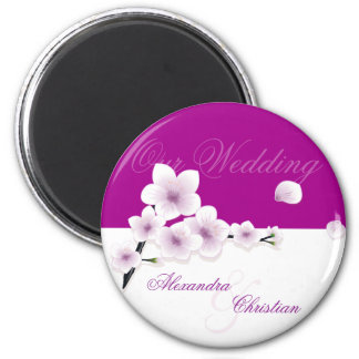 Spring Blossom Wedding Save The Date Announcement 2 Inch Round Magnet