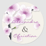 Spring Blossom Wedding Save The Date Announcement Stickers