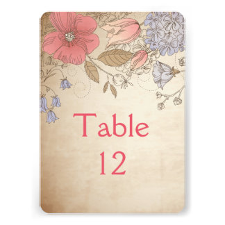 Spring Blossom Wildflowers Table card