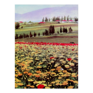 Spring Blossoms acrilic painting Poster