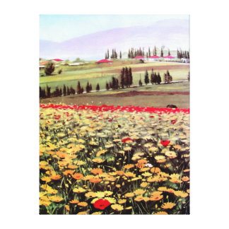Spring Blossoms acrylic painting Stretched Canvas Print