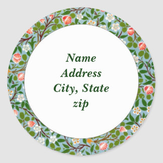 Spring Blossoms Address Classic Round Sticker