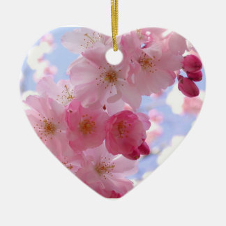 Spring Blossoms and Heart Christmas Ornament