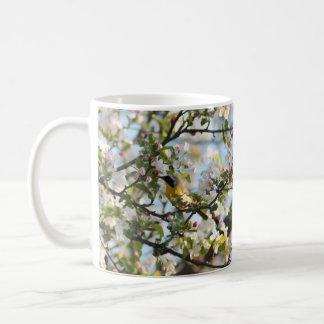 Spring blossoms and Warbler Coffee Mug