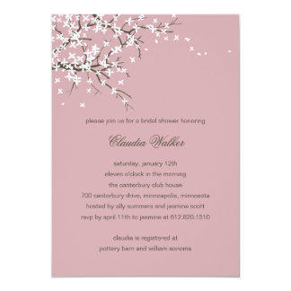 Spring Blossoms Bridal Shower Invitation (Dahlia)