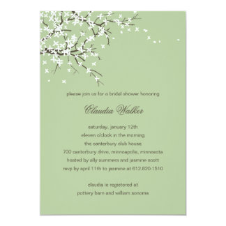 Spring Blossoms Bridal Shower Invitation (Sage)