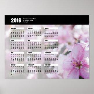 Spring Blossoms Calendar 2016 Poster