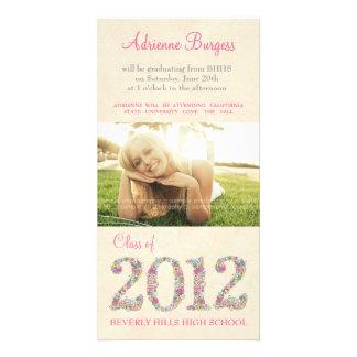 Spring Blossoms Class of 2012 Graduation PhotoCard Card