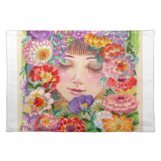 Spring Blossoms Contentment Illustration Placemat