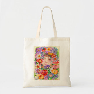Spring Blossoms Contentment Illustration Tote Bag