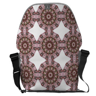 Spring blossoms, Flower Mandala Messenger Bag