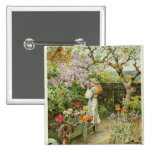 Spring Blossoms, from the Pears Annual, 1902 Pinback Buttons