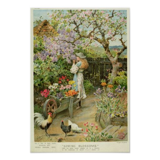 Spring Blossoms, from the Pears Annual, 1902 Posters