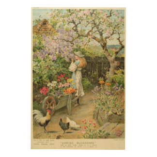 Spring Blossoms, from the Pears Annual, 1902 Wood Wall Decor