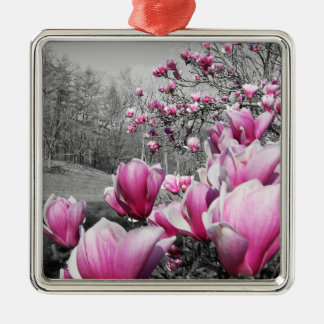 Spring Blossoms Metal Ornament