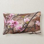 Spring Blossoms on Zion Red Rocks Lumbar Pillow