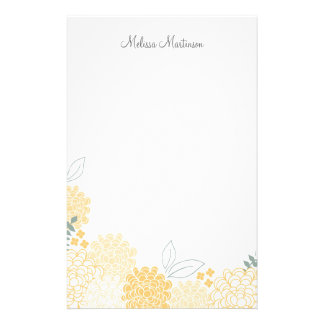 Spring Blossoms Personalized Stationery