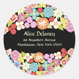 Spring Blossoms Return Address Labels Stickers