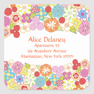 Spring Blossoms Return Address Labels Stickers