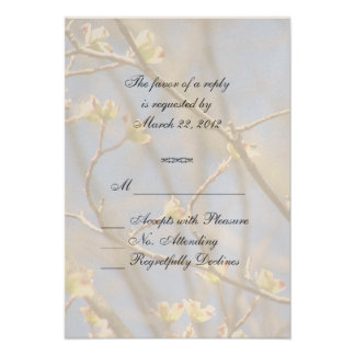 Spring Blossoms RSVP Invitations
