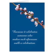Spring Blossoms Template Birthday Card Greeting Card