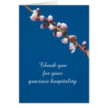 Spring Blossoms Template Hospitality Card Greeting Card