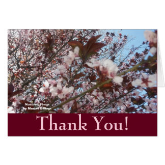 "SPRING BLOSSOMS ""THANK YOU"" CARD"