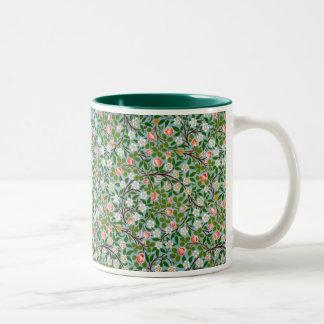 Spring Blossoms Two-Tone Coffee Mug