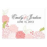 Spring Blossoms Wedding Favor Card
