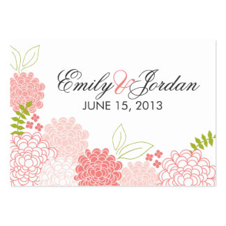 Spring Blossoms Wedding Favor Card Large Business Card