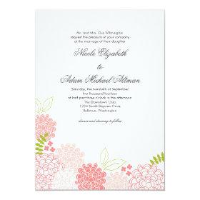 Spring Blossoms Wedding Invitation 5