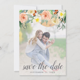 Spring Blossoms Wedding Photo Save The Date
