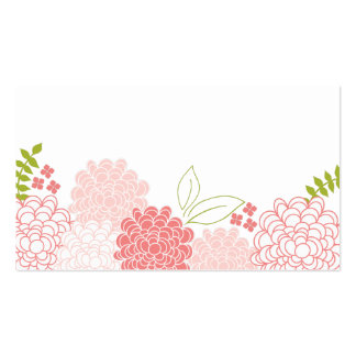 Spring Blossoms Wedding Place Cards Double-Sided Standard Business Cards (Pack Of 100)