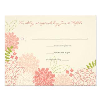 Spring Blossoms Wedding Response 4.25x5.5 Paper Invitation Card
