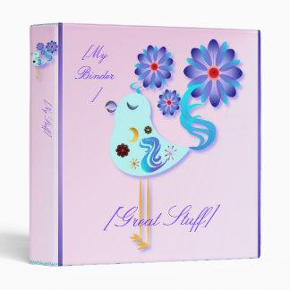 Spring Blue Bird Of Happiness Binder