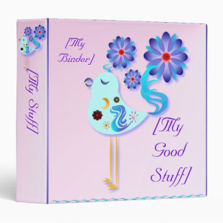 Spring Blue Bird Of Happiness Binders