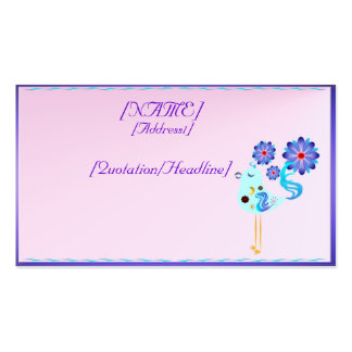 Spring Blue Bird Of Happiness Business Card