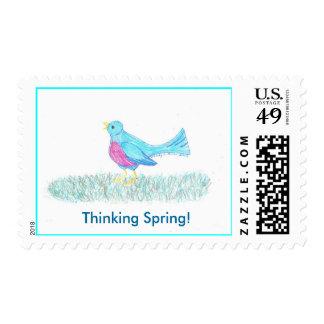 Spring Blue Bird Postage
