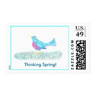 Spring Blue Bird Postage