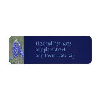 Spring Blue Bonnets Custom Return Address Labels