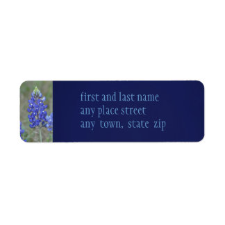 Spring Blue Bonnets Return Address Label