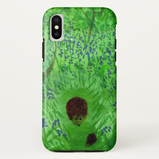 Spring Bluebell Wood Hedgehogs iPhone X Case