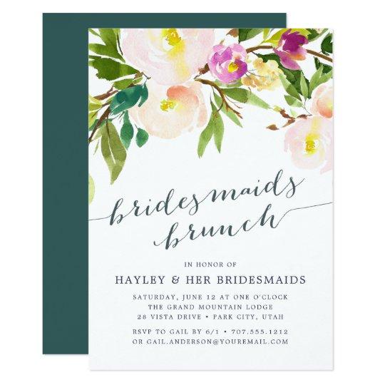 Spring Blush Bridesmaids Brunch Invitation Zazzle Com